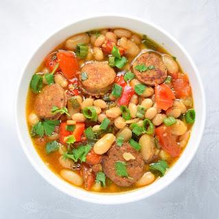 Hot Bean and Sausage Salad