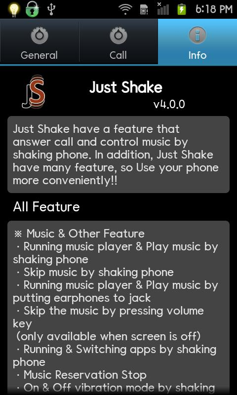 Just Shake - screenshot