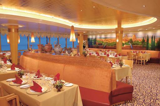 Jewel-of-the-Seas-Portofino - Indulge in fantastic Italian cuisine and fine wine while dining at the Portofino Italian Restaurant aboard the Jewel of the Seas.