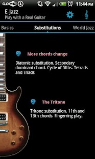 Jazz Guitar Lessons : E-Jazz - screenshot thumbnail