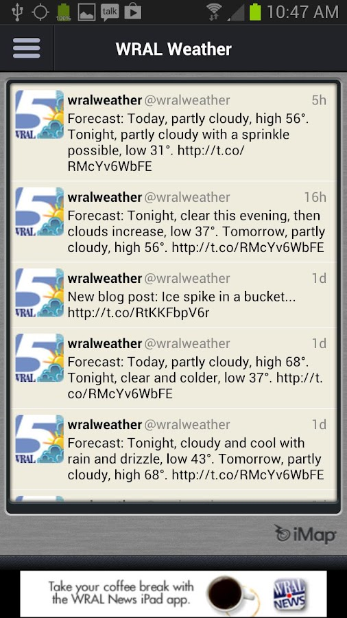 WRAL Weather Alert- screenshot