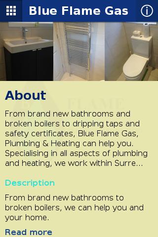 Blue Flame Gas