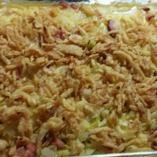 Scalloped Cabbage with Ham and Cheese