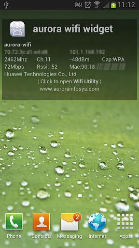 aurora wifi widget
