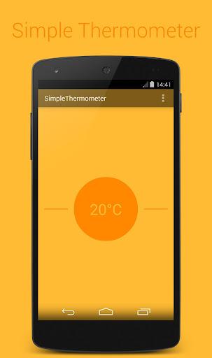 簡単な温度計