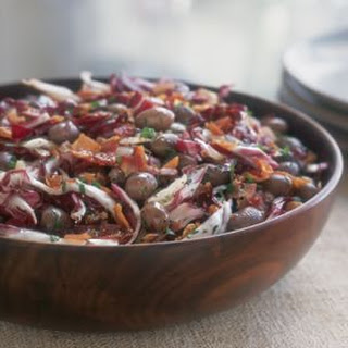 Warm Borlotti Bean and Radicchio Salad