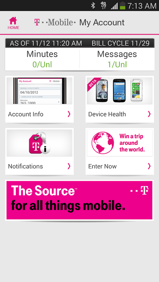 T-Mobile My Account - screenshot