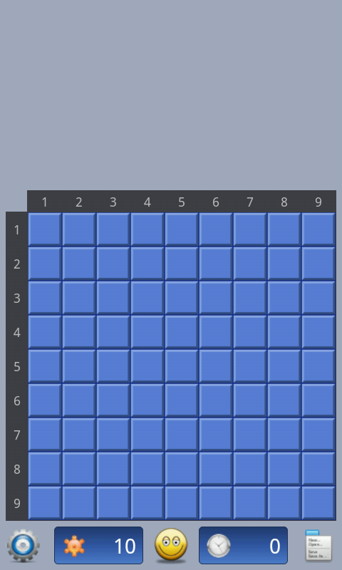 Minesweeper game - screenshot