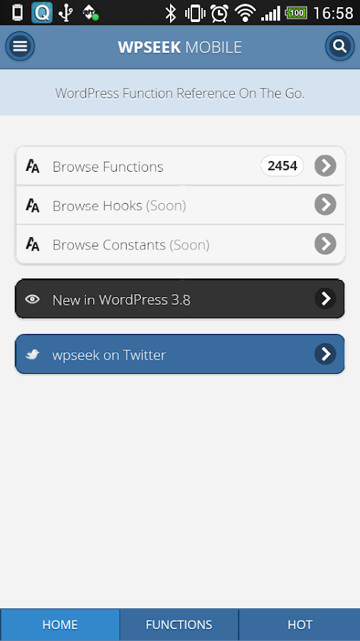 WPSeek Mobile - screenshot