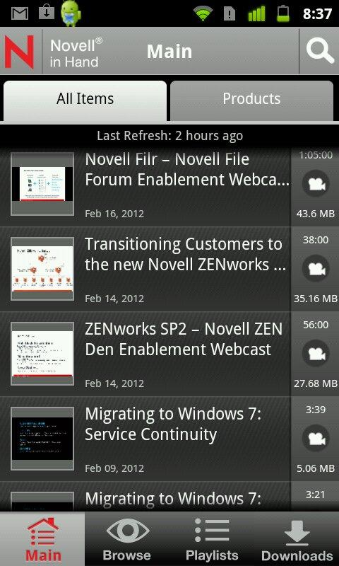 Novell in Hand- screenshot