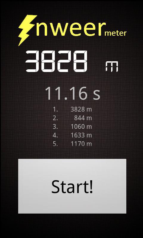 Onweer Meter: screenshot