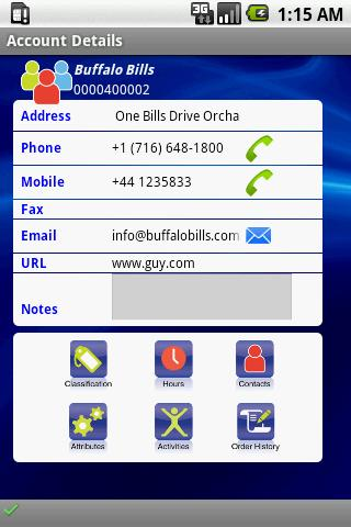 SkyMobile CRM - screenshot