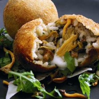 Wild Mushroom Arancini with Mozzarella