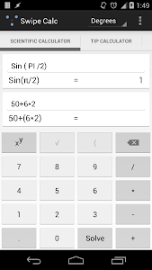 Swipe Calc v1.0.1