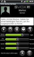 Screenshot of SVOX German Markus Voice