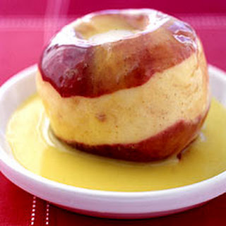 Spiced Baked Apples with Vanilla Sauce.