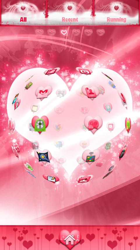 Valentines Day GO Launcher EX - screenshot