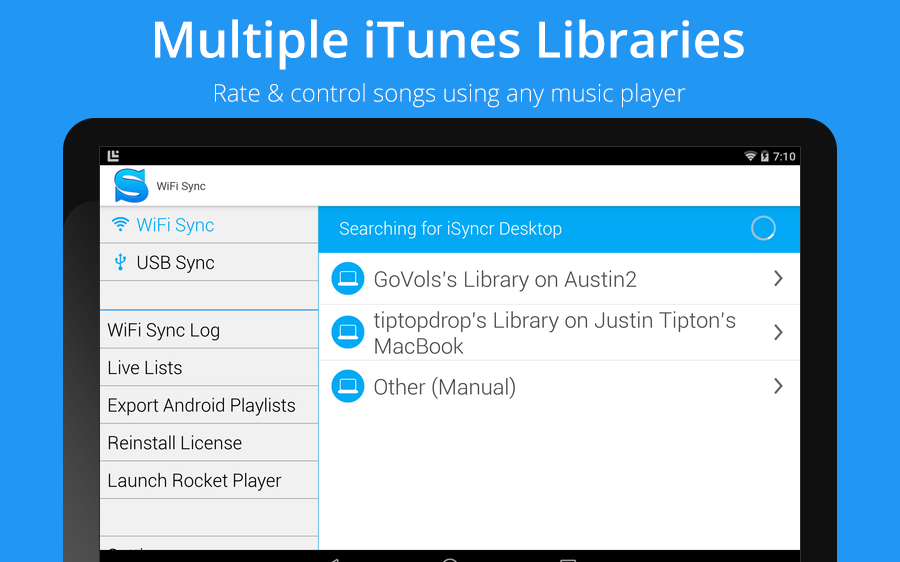 iSyncr : iTunes Sync (Pro) - screenshot