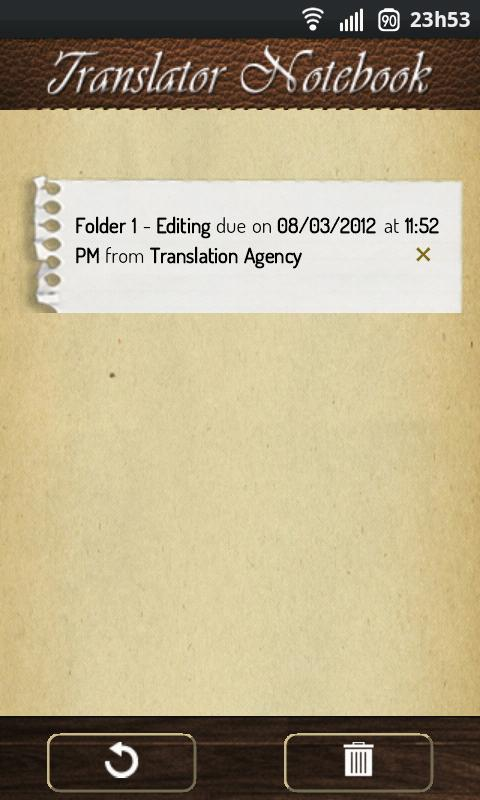 Translator Notebook - screenshot