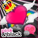 GO SMS Pro Pink&Black Theme icon