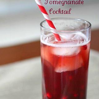 Sparkling Pomegranate Cocktail.