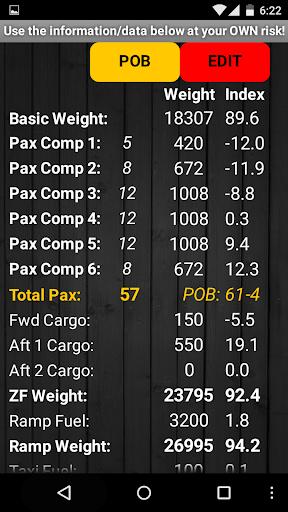 Q400 Weight & Balance 2.2 screenshots 2