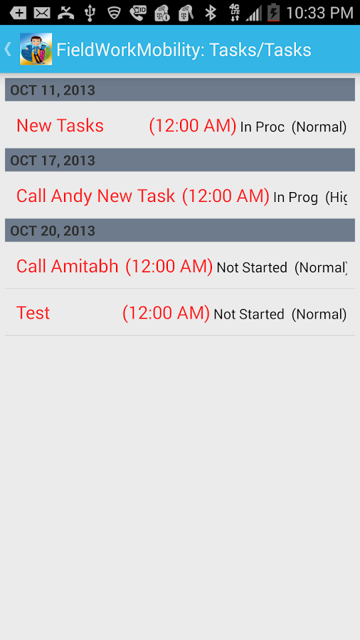 FieldWorkMobility- screenshot