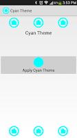 Screenshot of Cyan Theme Nova
