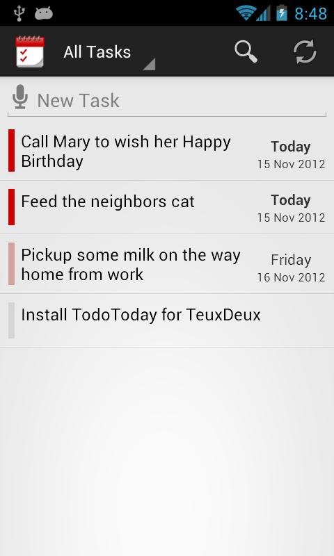 TodoToday Pro for TeuxDeux - screenshot