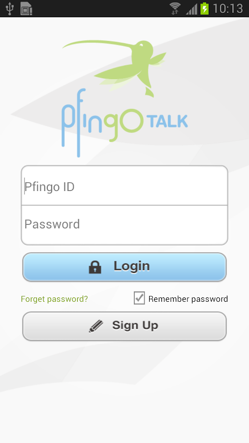 pfingoTalk - screenshot