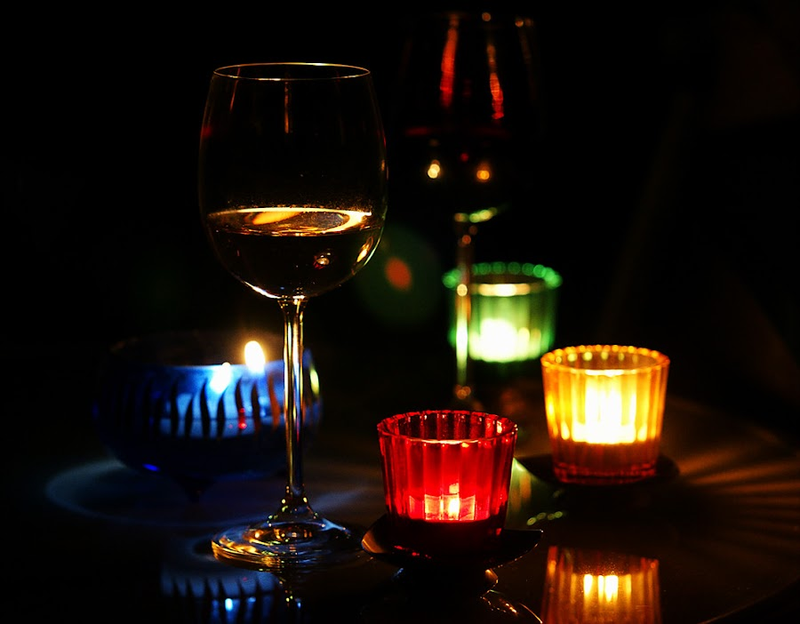 Romance by Stephan Roller - Artistic Objects Glass ( colors, candles, glass, light,  )