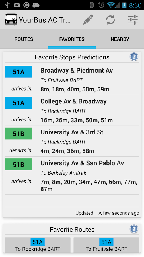 YourBus AC Transit - screenshot