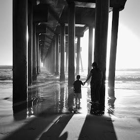 Holding On by Cheryl Petretti - Instagram & Mobile Android ( family, trust, pier, beach, people, hope,  )