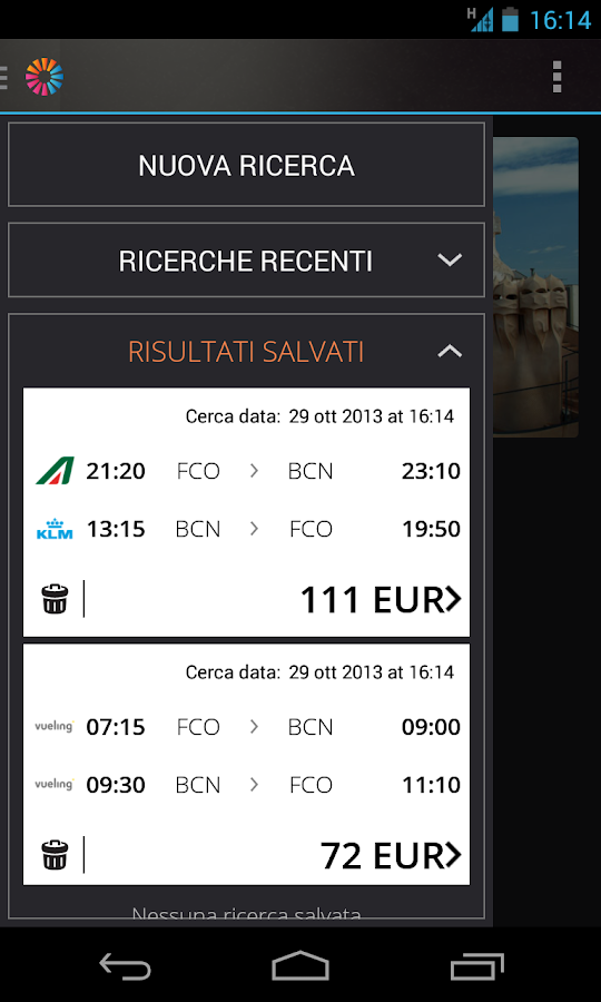 momondo Voli e Hotel Low Cost - screenshot