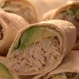 Tuna and crab wraps/Crab and avocado wraps.