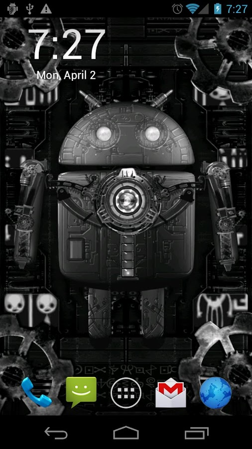 Steampunk Droid Live Wallpaper - screenshot