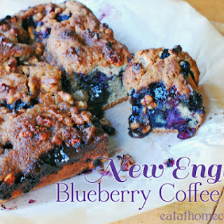New England Blueberry Coffee Cake.