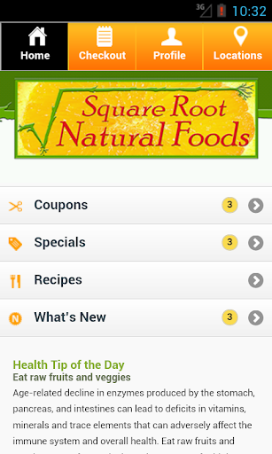 【免費健康App】Square Root Natural Foods-APP點子