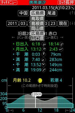 携帯潮汐改- スクリーンショット