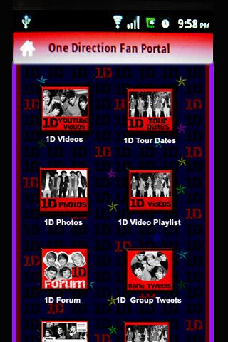 One Direction Fan Portal App - screenshot
