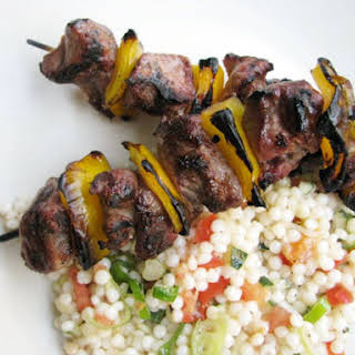 Lamb Kebabs with Israeli Couscous.