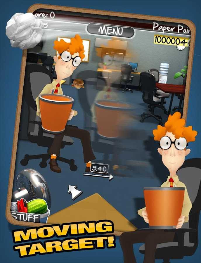 Paper Toss 2.0- screenshot