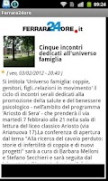 Screenshot of Ferrara24ore