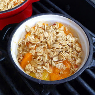 Peach and Apricot Crisp