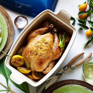 Simple Roast Chicken with Lemons