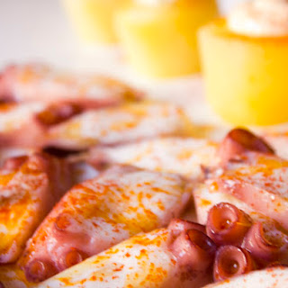 Pulpo Feria (Galician Octopus) with Potatoes and Alioli.