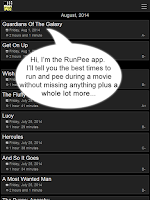 Screenshot of RunPee.