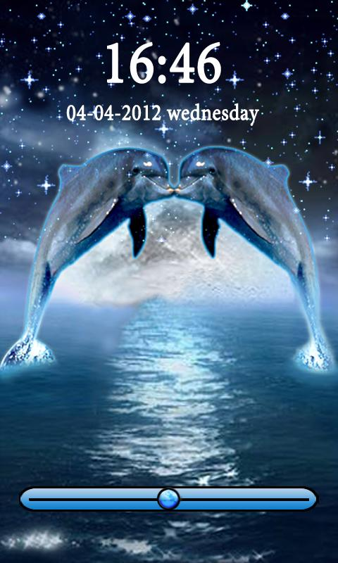 Dolphins Kiss in Moon GoLocker - screenshot