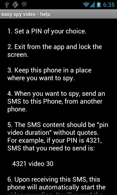easy spy video - screenshot