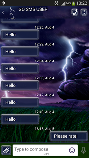 GO短信加强版风暴